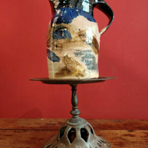 Picture showing a glazed earthenware pitcher