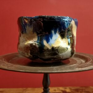 Gazed earthenware bowl.