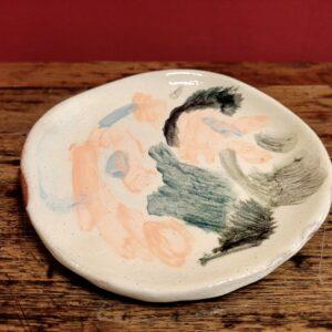 Small slipware plate.