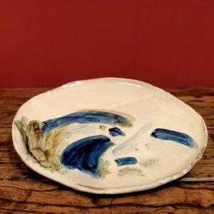 Big slipware plate