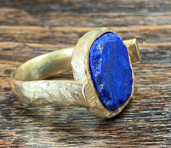 Picture showing a vermeil lapis and turquoise ring